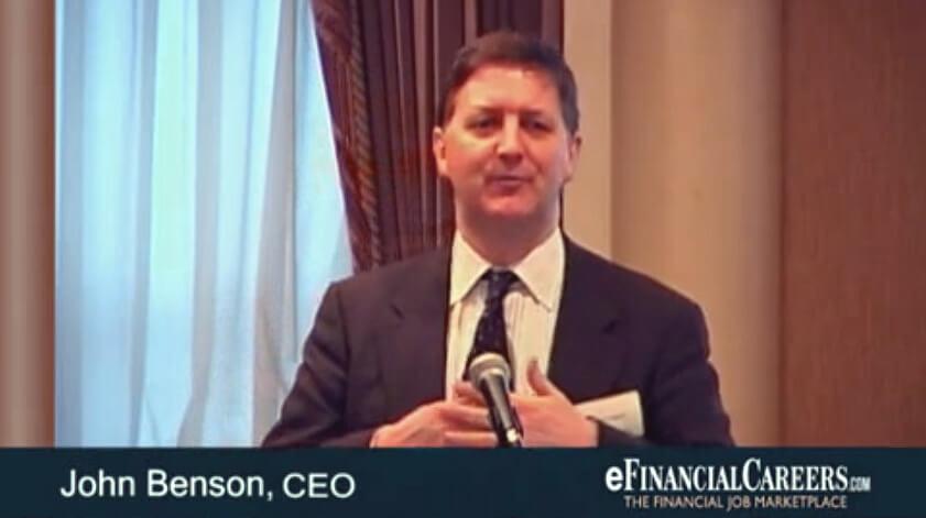 John Benson, efinancial Careers