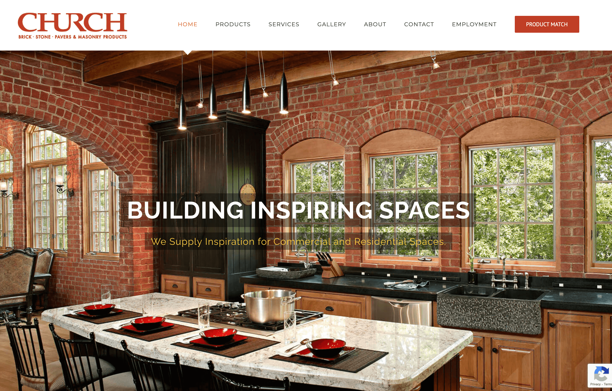 Church Brick Website Designed by HG Media
